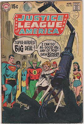 Justice League Of America  # 73   Silver  Age    Gd+ / Vg-