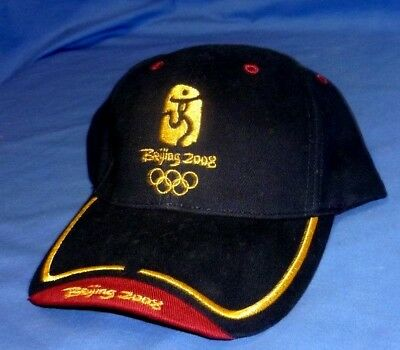 New WT 2008 Official Beijing Olympics Olympic Games Cap Hat Vintage I size Fits