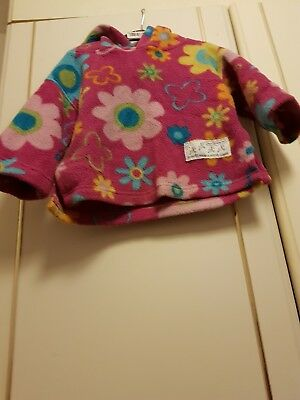 Unique Kids Made In Wales Infant Girls 3-6 Months Approx Cerise Fleece