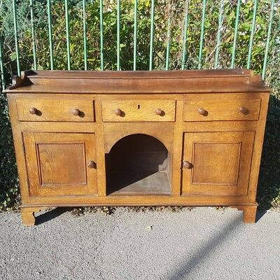 19th Century Small Oak Welsh Dresser Base with dog kennel rack available