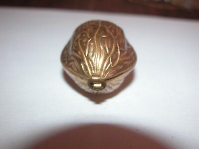 Awesome Antique/vintage Walnut Style Victorian Thimble Holder W/thimble