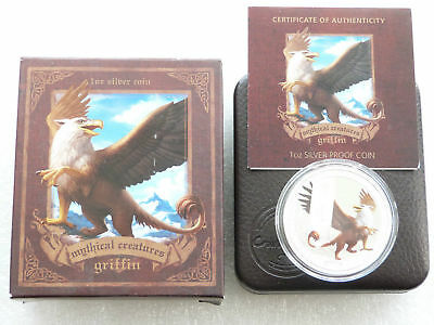 2013 $1 Mythical Creatures - Griffin 1 oz. Silver Proof Coin Perth Mint .999 AG