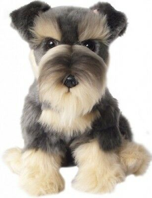 Schnauzer Faithful Friends Soft Toy Dog 12""