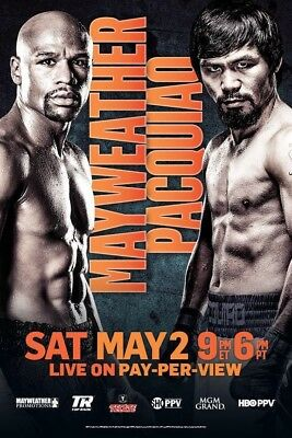 *Official* Mayweather V Pacquiao Fight Poster - Unopened / Mint Condition