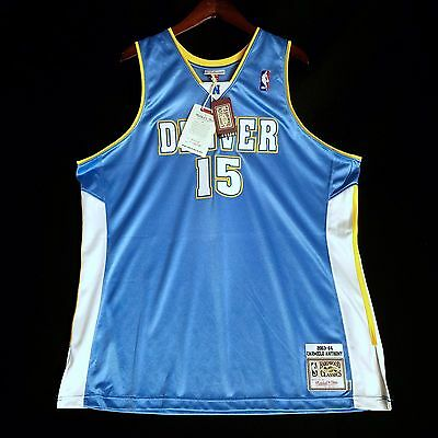 100% Authentisch Mitchell & Ness Carmelo Anthony Nuggets NBA Trikot Size 52 2XL