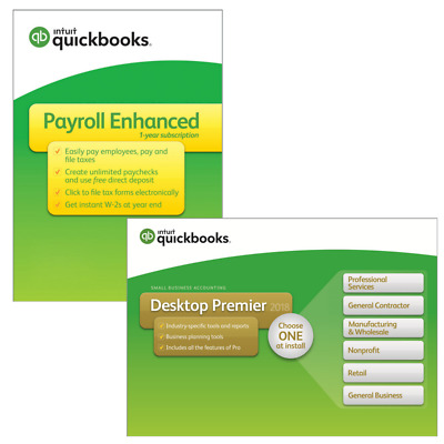 QuickBooks Premier 2019 1 User with Enhanced Payroll for NEW customers
