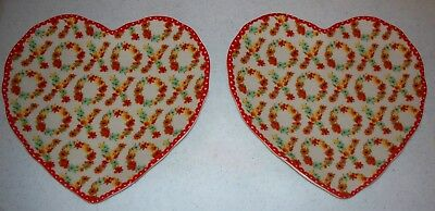 TWO Valentine Heart Plates by 222 Fifth, XOXO, 9 x 9, Perfect