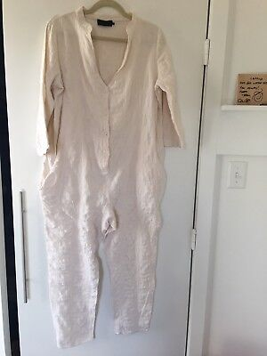 Hatch Maternity The Taylor Jumper Jumpsuit One Size Medium Small Cream