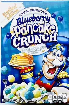 Cap'n Crunch LIMITED EDITION Blueberry Pancake Cereal Petite 4.1 Oz Box NEW