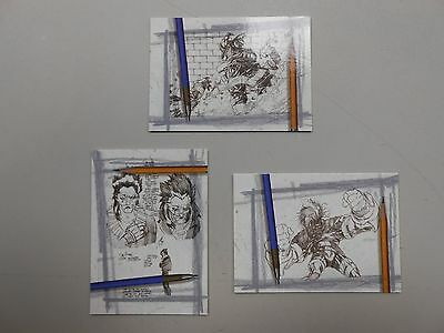 1997 Ash artist sketch card lot of 3! #'s 1, 2 and 3! NM/MN! Event Comics! LOOK!