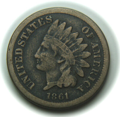 1861 Indian Head One Cent - 1C - No Reserve!