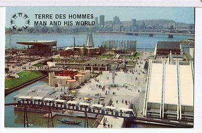 1967 EXPO Official Postcard, Indians of Canada Pavilion, Montreal Postcard