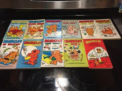 Lot of 11 Vintage Heathcliff the Cat Paperback Books George Gately