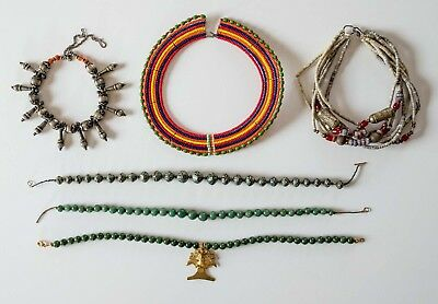 Vintage Necklaces - African, Indian, Pre-Columbian, Ethnic / Lot of 6