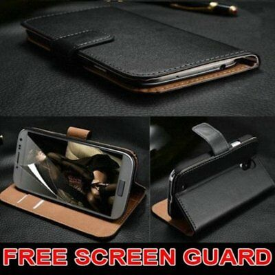 Luxury Genuine Real Leather Flip Case Wallet Cover For Samsung Galaxy Models lNO