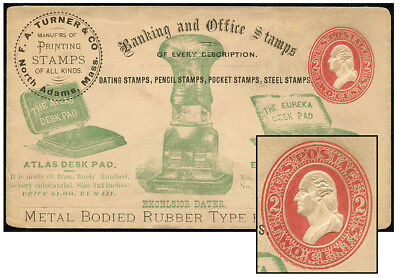 Us 2¢ Pse White Size 8 Turner Office Stamps Upss 650