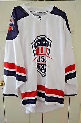 Wayne Gretzky Ice Hockey Classic 2016 Team USA Away Jersey Excellent Condition