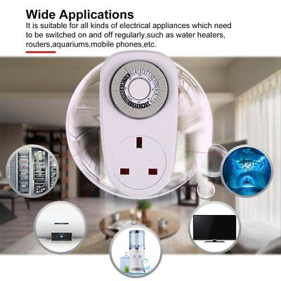 24 Hours Plug in Mechanical Grounded Programmable Smart Countdown Timer SwitchGi