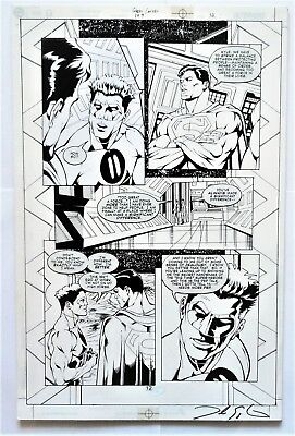 Green Lantern #149 Page 12 Original Splash Art Superman & Green Lantern As Ion