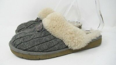 685d3015a71 UGG AUSTRALIA COZY Cable Knit Slippers 1019666 Fawn Beige Cable ...