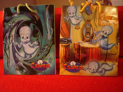 2 Casper the Friendly Ghost Small Gift Bags 1996 from Universal/Harvey