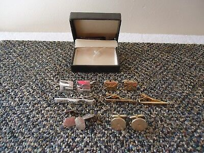 "Vintage Mixed Lot Of Swank / Other Cuff Links,Tie Clips,etc."" GREAT LOT """