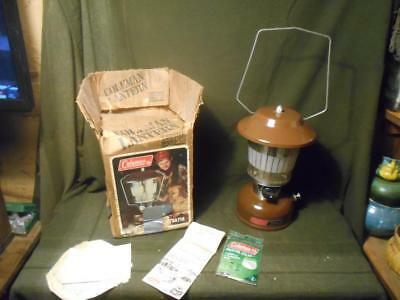 Vintage Brown Coleman Lantern 275 With Box 6/81 * Great Condition