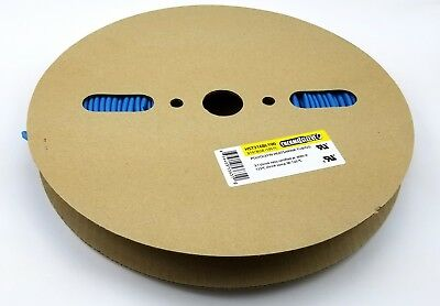 """100' Roll Thermosleeve HST316BL100 Polyolefin 3/16"""" BLUE 2:1 Heat Shrink Tubing"""