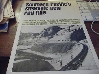 Southern Pacific's Strategic New Rail Line (Palmdale to Colton)-1967