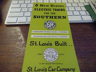 6 New Diesel Electric Trains for the Southern R by the St. Louis Car Co