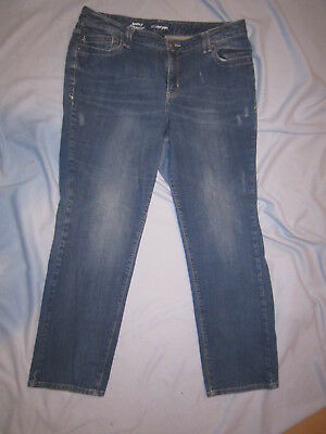 Womens Jeans Plus Size 18 R Lane Bryant Simply Straight Leg Pants Distressed Str