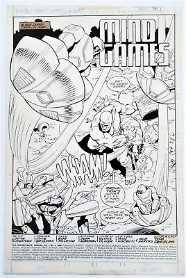 New Mutants Annual #4 Splash Page Original Art High Evolutionary By June Brigman