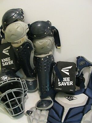 Louisville Slugger Series 5 Catchers Set - Youth - Navy/Grey PGS514-STY USED