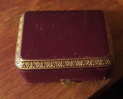 Vintage French Antique Jewlery Box  Haardt & Devos  Coat Of Arms Brussels