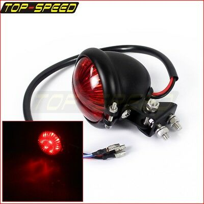 Black Motorcycle LED Taillight Stop Brake Lamp For Harley Cafe Racer Triumph