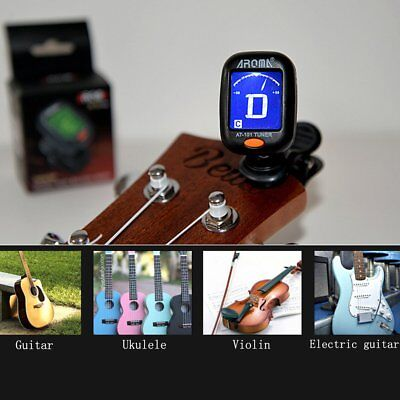New AT-101 AROMA Mini Clip Type Guitar Instrument Tuner Guitar Bass Clip Th