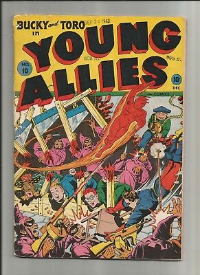 Young Allies #10 1943-44 Timely Comics Alex Schomburg Stan Lee Low/Mid Grade