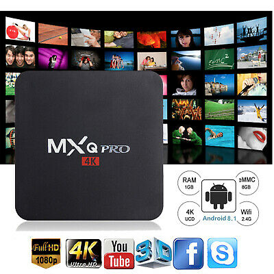 MXQ PRO Smart TV Box WIFI Quad Core Android 7.1 1+8G 4K 3D HDMI Affordable Media