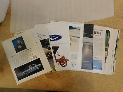 Lot of 48 1966 Ford Print Ads Mercury Lincoln Mustang T-bird Galaxie more