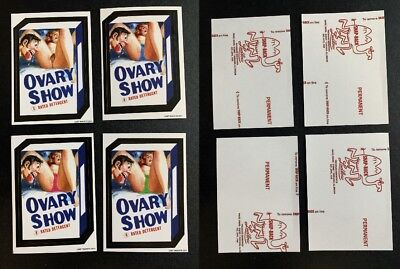 2011 Lost Wacky Packages 3rd Series RED LUDLOW Backs All 4 OVARY SHOW Cards