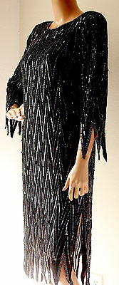 LILLIE RUBIN Cocktail Dress Formal Beaded Sequined Vintage Size S