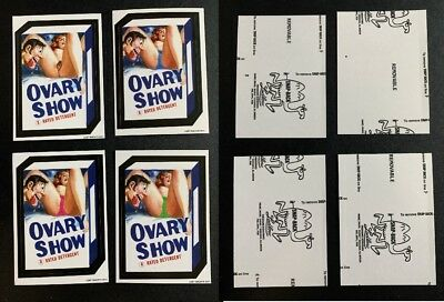 2011 Lost Wacky Packages 3rd Series BLACK LUDLOW Backs All 4 OVARY SHOW Cards