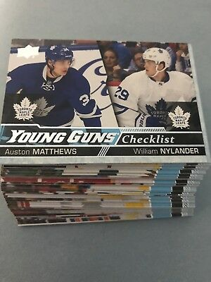 2016-17 Upper Deck Young Guns you pic finish your set