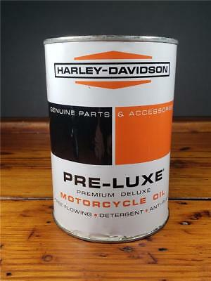 Vintage HARLEY DAVIDSON PRE-LUXE Motor Oil 1 Quart Metal Empty CAN sign