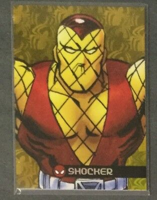 2017 Fleer Ultra Spider-Man Royal Foil Gold Shocker #64/99
