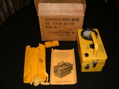 Victoreen Radiological Survey Meter CDV - 717 Model No. 1 (PARTS ONLY)