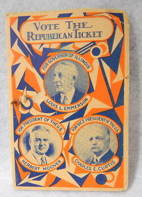 1928 Republican Illinois Hoover & Emmerson Sewing Needles Packet
