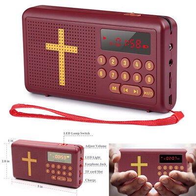 Electronic English Bible Audio Player Speakers Rechargeable Talking Listen Gift