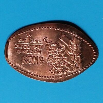 KONG ROLLERCOASTER Six Flags Discovery Kingdom California Elongated Copper Penny
