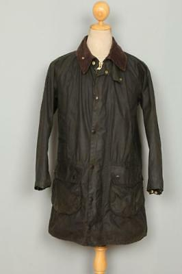 Mens BARBOUR Gamefair WAXED Jacket Green Size 36